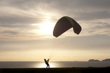 A Paragliding Instructor Arranges His Paraglide