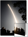 Spectators Watch as a Delta Ii Rocket Launches Off the Pad from Vandenberg Air Force Base