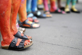 Painted Legs are Pictured During 'Regenbogenparade' (Rainbow Parade) in Vienna
