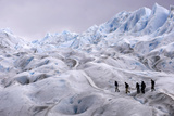 Climbers Trek on Argentina's Perito Moreno Glacier Near the City of El Calafate