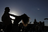 Pairs Dance Hustle at the Bank of Moskva River During Open Air Dance Lessons in Moscow