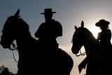Pilgrims on Horse Ride at Dusk Otuside El Rocio Shrine in Spain