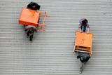 Workers Carry Goods in Shanghai