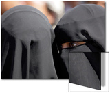 A Woman Talks to Another Veil-Clad Woman During an Anti-Government Rally Outside Sanaa University