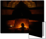 A Man Relaxes at the Rudas Bath During -Night of Baths- in Budapest