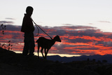 A Boy Takes Walks with His Goat on the Outskirts of Oaxaca