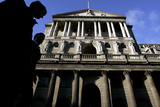 City Workers Walk Past the Bank of England in Central London
