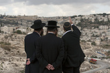 A View of Jerusalem's Old City after a Cornerstone Laying Ceremony
