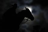 Wrangler Nate Cummins Rides by Moonlight