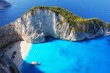 Navagio Beach in Zakynthos  Greece