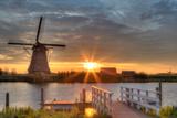 Windmills in Kinderdijk  Netherlands
