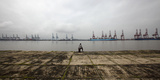 On the Shore Opposite to the Closed Jawaharlal Nehru Port on the Elephanta Island  Mumbai