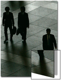 Businessmen Walk Through a Public Square in Downtown Tokyo