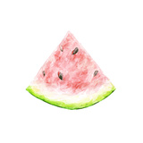 Watercolor Drawing of a Slice of a Watermelon