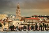 View of Split Coast  Croatia with Heavy Sky