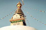 Buddhist Shrine Swayambhunath Stupa - Vintage Filter