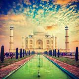 Taj Mahal on Sunrise Sunset  Agra  India