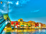 The Main Canal at Murano Island near Venice Italy HDR