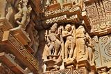 Human Sculptures at Khajuraho  India - UNESCO Heritage Site
