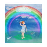 Child in the Meadow and Rainbow
