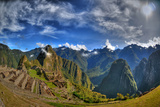 Sun Rise over the Incan Lost City of Machu Picchu - HDR Photo