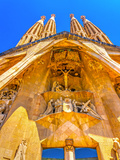 Details from the Sagrada Familia Church in Barcelona  Spain