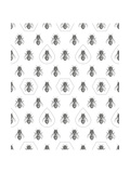 Bees Texture Seamless Pattern