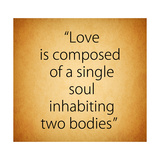 Quote of Love from Aristotle