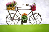 Iron Hand Made Bicycle and Flowers