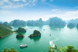 Halong Bay in Vietnam Unesco World Heritage Site