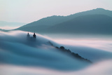 Calvary over Clouds in Banska Stiavnica  Slovakia