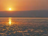 Sunset on the Dead Sea  Jordan  Middle East
