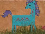 Horse Wall Mural  Santa Fe  New Mexico