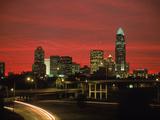 Skyline & Highway at Night  Charlotte  NC