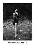 Nude with Fur Coat in the Forest Gstaad  Switzerland 1990
