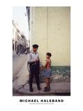 Police Officer and Boy in Street; Havana  Cuba 1999
