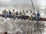 New York Construction Workers Lunching on a Crossbeam Papier Photo