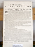 Copy of the Declaration of Independence in Free Quarker Meeting House