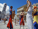 Los Zancudos  Stilt Dancers in Old Havana World Heritage Area  Cuba