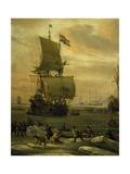 Whaling in Arctic Ocean  Ca 1665