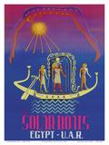 The Solar Boats - Egypt & UAR (United Arab Republic) - Egyptian Sun God