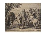 Cavalry Engagement  Engraved by Jan Van Huchtenburg (1647-1733)  1667-90