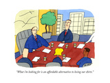 """""""What i'm looking for is an affordable alternative to losing our shirts"""" - Cartoon"""