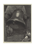 Testing the Great Bell for St Paul's Cathedral  at Messers Taylor and Son's Factory  Loughborough