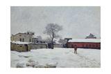 Under Snow: the Farmyard at Marly-Le-Roi  1876