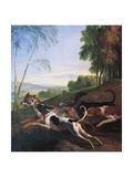 Wolf Hunting  Painting by Alexandre-Francois Desportes (1661-1743)  France  17th Century