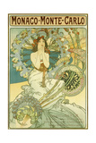 Monaco Monte-Carlo'  Depicting a Maiden Within a Halo of Blossoms  1897 (Lithograph in Colours)