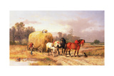 Carting Hay  19th Century