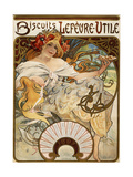Biscuits Lefevre-Utile'  Designed as a Calendar for 1897  1896 (Lithograph in Colours)