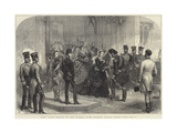 Queen Victoria Receiving the Shah of Persia at the Sovereign's Entrance  Windsor Castle  20 June
